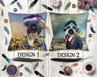 Pekingese Dog Pillow/Pekingese Portrait/Pekingese Art/Pekingese Print/Personalized Dog Pillow/Custom Dog Portrait