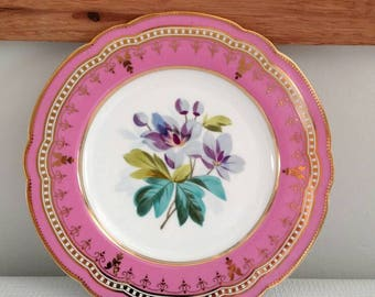 Two's Company Purple Floral Plate