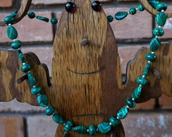 Malachite with Sterling Silver