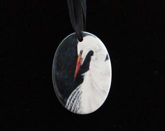 Ceramic Ornament - Egret
