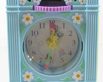 1991 Vintage Polly Pocket Funtime Clock Bluebird Toys (39830)