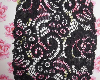 Patches Strech Lace Black Set of 2