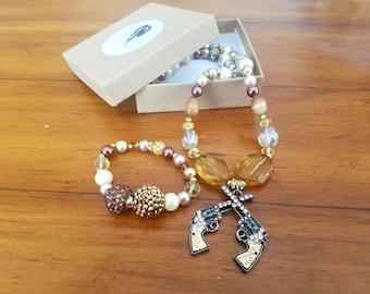 Bridal Jewelry Rustic Wedding Country Set Cowboy Tan