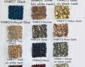 Bigger Swatch Pieces for Sequined Fabric,with 15 Colors,Large Swatch Pieces Available,For Party Dress/Bridesmaid Dress/Prom Dress(RenzRags)