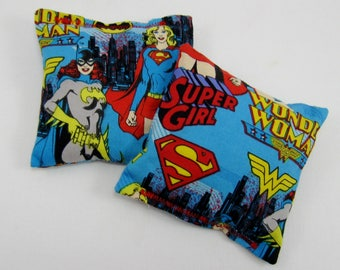 Wonder Woman Bags - Wonder Woman Birthday Party Game - Party Favor - Superhero Party Game - Xtra Sturdy Double Bagged - Wonder Woman Fabric