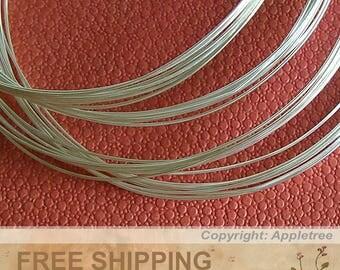 925 Sterling Silver Wire 20FT 24ga HH Round Wire 20 feet Half Hard