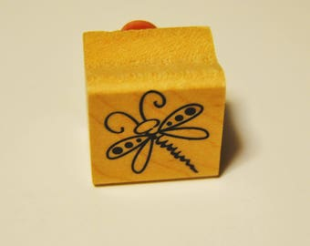 Dragonfly rubber stamp. new. Miniature small.