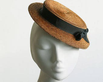 The Monroe Hat - Straw Boater Hat