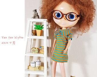 Clearance Sale - YAN - Stripes Dress for Blythe doll