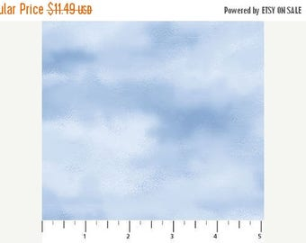 20 % off thru 7/4 NATURESCAPES-BLUE SKY- by the yard Northcott 21390-42 cotton quilt fabric  blue white clouds