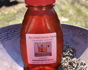Lavender  Infused Honey 8 oz jar