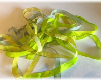 Hand Dyed Rayon Ribbon...3 Pieces, 2 Yards Each!