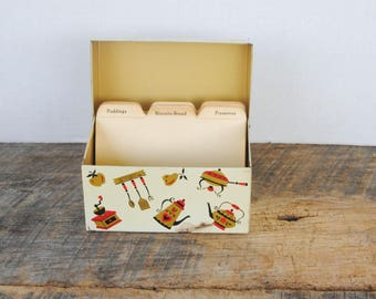 Vintage Recipe Card Box Ohio Art Company