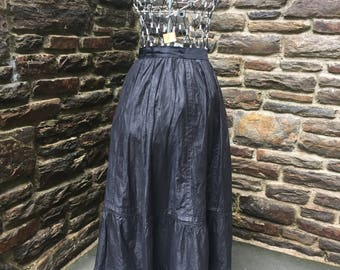 Vintage victorian petticoat skirt early textiles 1800's black Halloween witch primitive steampunk