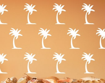 Palm Trees | Vinyl Wall Decals | Palm Tree Decals | Beach Decor | Beach Decals | 5 Inch Trees | Nautical Wall Decals | 22613