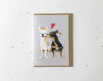 Chihuahuas // Dog Greeting Card