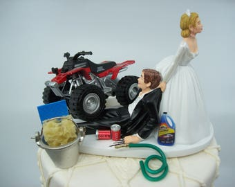 4 wheeler wedding cake toppers grooms cake etsy 10428