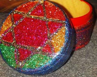Rasta Style Star of David Ring Box Stash Box - 420 - Rastafari
