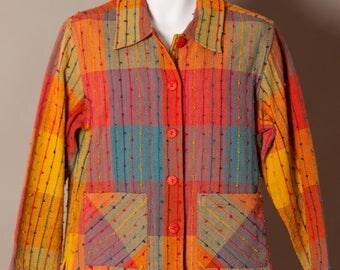 Colorful 90s Women's Jacket Blazer - Resort Wear - M