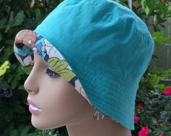 Chemo Hat Reversible Cancer Cap Made in the USA. SMALL