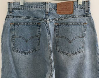 Vintage Levi's 521 Tapered Fit Tapered Leg Jeans Sz 16 34 x 29