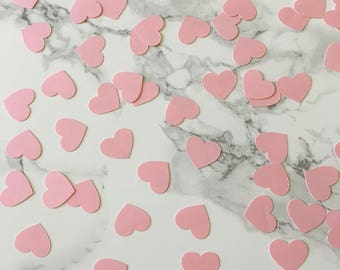 Tiny Heart pink confetti   baby shower   wedding   birthday   200 pieces   5/8 inches