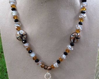 Marbled Topaz, bead necklace