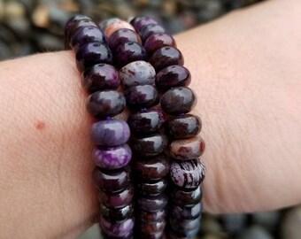 Sugilite bracelet, Sugilite, Sugilite crystal, Sugilite jewelry, Purple gemstone, Purple color stone, Yoga bracelet Sugilite, Gem