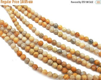 10% off Memorial Day Tiny Round Tan Agate Bead-- 3mm Beads -- ONE FULL STRAND (S102B11-01)