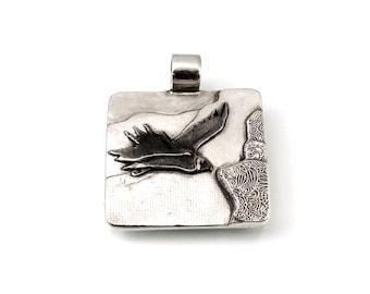 Sterling, Condor Pendant, Condor Jewelry, Condor, Andean, Totem Condor, Peruvian Condor, Peruvian Shaman Jewelry, Shaman Jewelry, 1093a