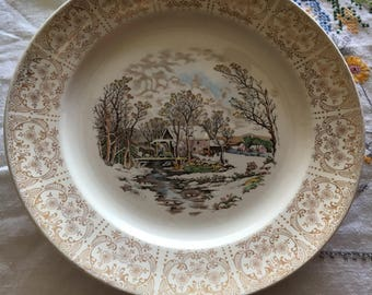 Currier & Ives Royal Monarch Plate