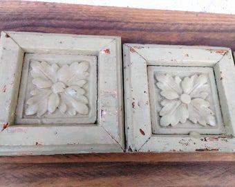 Architectural Salvage - Wooden Trim - Wooden Medallions - Salvaged Wood - Victorian - Fixer Upper