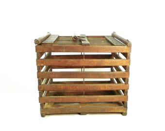 Wooden Egg Crate, Primitive Wooden Egg Crate, Vintage Farmhouse Decor