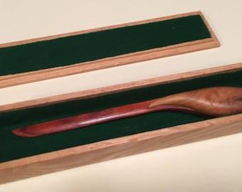 Solid Oak, Velvet-Lined Gift Box for My Sculpted Wooden Letter Openers