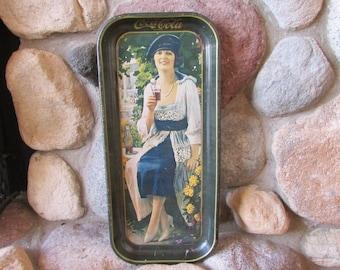 Coca-Cola Vintage Woman Metal Tray