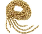 Vintage Scroll Chain, 5 Pieces, Over Two Feet, Gold Plated Chain, Vintage Supplies, Jewelry Chain, Jewelry Making, Gold, B'sue, Item06339