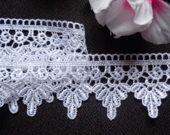 "1 3/4"" White Venice Lace Trim - Venise Lace  selling by the yard"