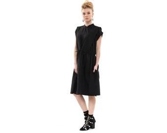 To: Jennifer Blackwood - Lucca dress,  Black dress,  Dress With Drawstring Waist , Sporty dress, Everyday dress, Loose dress, sleeveless