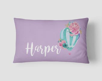 Personalised Name cushion Hot Air Balloon