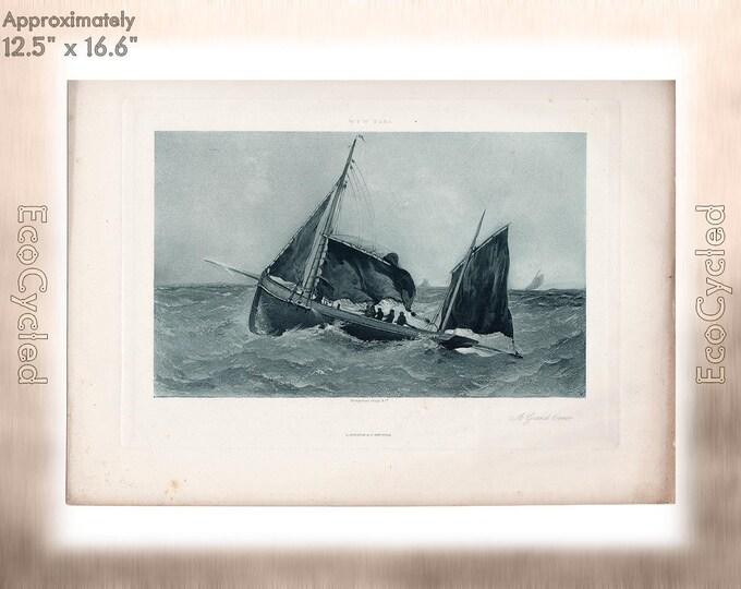 A Grand Time by W.P.W. Dana Sailing Antique Photogravure Print Goupil William Parsons Winchester Dana Vintage Paper Ephemera zyxG10