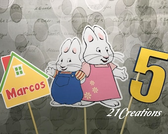 Max and Ruby Centerpiece Inserts or Cake Topper