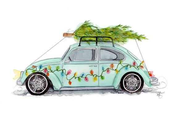 items similar  vw beetle christmas  etsy