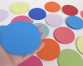 "3.25"" Cardstock Circles- 100, scrap booking, favor tags, cupcake toppers, garland, diy card stock, paper crafts"