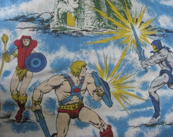 Vintage Masters of the Universe Twin Flat Sheet