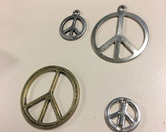 Peace sign lot - mixed lot of peace signs