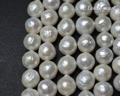 luster Nucleated pearl Freshwater pearl Round Edison pearl Loose pearls wholesale pearl Edison pearl necklace 13-14mm white PL4379