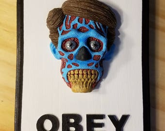 They Live Wall Hanging Sculpture Plaque