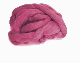 Lavender Purple Pink Wool  Fleece Roving for Felting or Spinning Australian Fleece