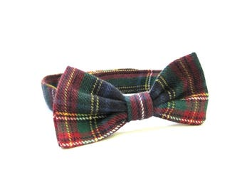 Toddler Bow Tie, Boy's Bow Tie, Plaid Bow Tie, Infant Bow Tie, Childs Bow Tie, Bow Ties, Made in USA, Under 15 Dollars, Ready To Ship