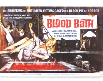 Blood Bath Movie Poster Fridge Magnet
